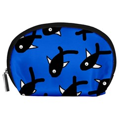 Cute Fishes Accessory Pouches (large)  by Valentinaart