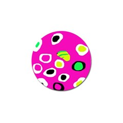 Pink Abstract Pattern Golf Ball Marker (10 Pack) by Valentinaart