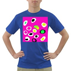 Pink Abstract Pattern Dark T-shirt by Valentinaart