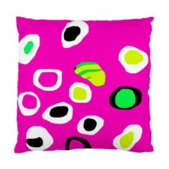 Pink Abstract Pattern Standard Cushion Case (one Side) by Valentinaart