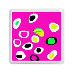 Pink Abstract Pattern Memory Card Reader (square)  by Valentinaart