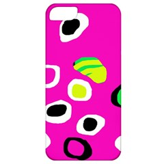 Pink Abstract Pattern Apple Iphone 5 Classic Hardshell Case by Valentinaart