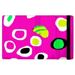 Pink Abstract Pattern Apple Ipad 3/4 Flip Case by Valentinaart