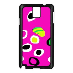 Pink Abstract Pattern Samsung Galaxy Note 3 N9005 Case (black) by Valentinaart