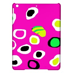 Pink Abstract Pattern Ipad Air Hardshell Cases by Valentinaart