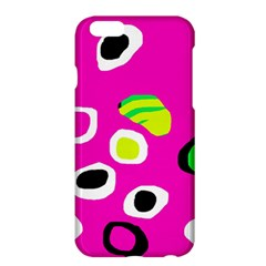 Pink Abstract Pattern Apple Iphone 6 Plus/6s Plus Hardshell Case by Valentinaart