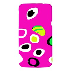 Pink Abstract Pattern Samsung Galaxy Mega I9200 Hardshell Back Case by Valentinaart