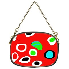 Red Abstract Pattern Chain Purses (one Side)  by Valentinaart