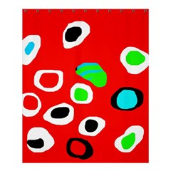 Red Abstract Pattern Shower Curtain 60  X 72  (medium)  by Valentinaart