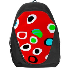 Red Abstract Pattern Backpack Bag by Valentinaart