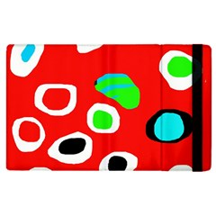 Red Abstract Pattern Apple Ipad 2 Flip Case by Valentinaart
