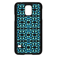 Dots Pattern Turquoise Blue Samsung Galaxy S5 Case (black) by BrightVibesDesign