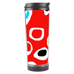 Red Abstract Pattern Travel Tumbler by Valentinaart