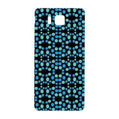 Dots Pattern Turquoise Blue Samsung Galaxy Alpha Hardshell Back Case by BrightVibesDesign