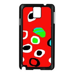 Red Abstract Pattern Samsung Galaxy Note 3 N9005 Case (black) by Valentinaart