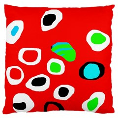 Red Abstract Pattern Standard Flano Cushion Case (two Sides) by Valentinaart