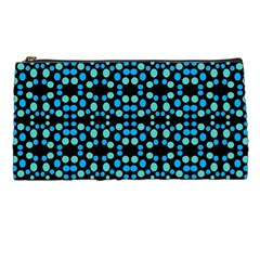 Dots Pattern Turquoise Blue Pencil Cases by BrightVibesDesign