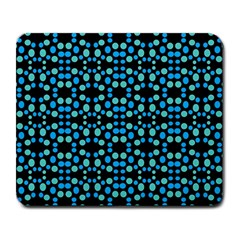 Dots Pattern Turquoise Blue Large Mousepads by BrightVibesDesign