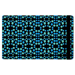 Dots Pattern Turquoise Blue Apple Ipad 2 Flip Case by BrightVibesDesign