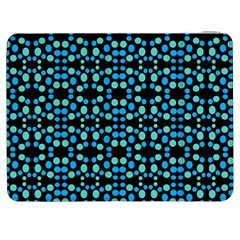 Dots Pattern Turquoise Blue Samsung Galaxy Tab 7  P1000 Flip Case by BrightVibesDesign