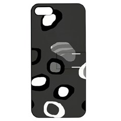 Gray Abstract Pattern Apple Iphone 5 Hardshell Case With Stand by Valentinaart