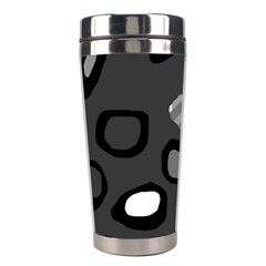 Gray Abstract Pattern Stainless Steel Travel Tumblers by Valentinaart