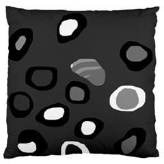 Gray Abstract Pattern Large Flano Cushion Case (two Sides) by Valentinaart