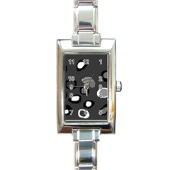 Gray Abstract Pattern Rectangle Italian Charm Watch by Valentinaart