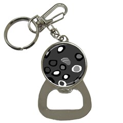 Gray Abstract Pattern Bottle Opener Key Chains by Valentinaart