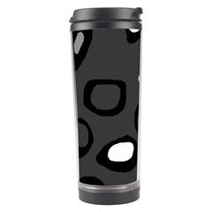 Gray Abstract Pattern Travel Tumbler by Valentinaart