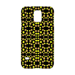Dots Pattern Yellow Samsung Galaxy S5 Hardshell Case  by BrightVibesDesign