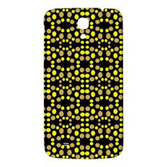 Dots Pattern Yellow Samsung Galaxy Mega I9200 Hardshell Back Case by BrightVibesDesign