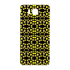 Dots Pattern Yellow Samsung Galaxy Alpha Hardshell Back Case by BrightVibesDesign