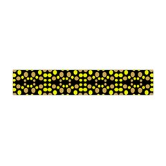 Dots Pattern Yellow Flano Scarf (mini) by BrightVibesDesign