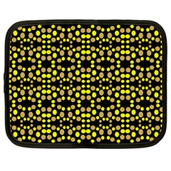 Dots Pattern Yellow Netbook Case (large) by BrightVibesDesign