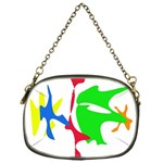 Colorful amoeba abstraction Chain Purses (One Side)  Front
