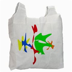 Colorful Amoeba Abstraction Recycle Bag (one Side) by Valentinaart
