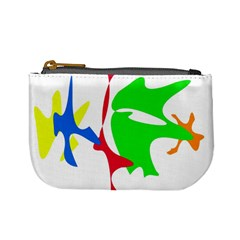 Colorful Amoeba Abstraction Mini Coin Purses by Valentinaart