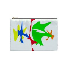 Colorful Amoeba Abstraction Cosmetic Bag (medium)  by Valentinaart