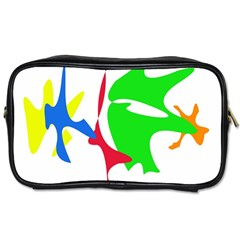 Colorful Amoeba Abstraction Toiletries Bags 2 Side by Valentinaart