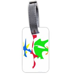 Colorful Amoeba Abstraction Luggage Tags (one Side)  by Valentinaart