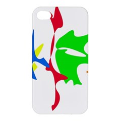 Colorful Amoeba Abstraction Apple Iphone 4/4s Hardshell Case by Valentinaart