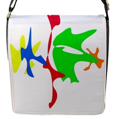 Colorful Amoeba Abstraction Flap Messenger Bag (s) by Valentinaart