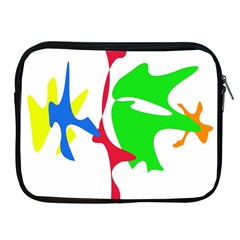 Colorful Amoeba Abstraction Apple Ipad 2/3/4 Zipper Cases by Valentinaart