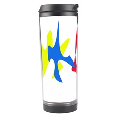 Colorful Amoeba Abstraction Travel Tumbler by Valentinaart