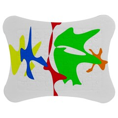 Colorful Amoeba Abstraction Jigsaw Puzzle Photo Stand (bow) by Valentinaart