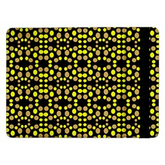 Dots Pattern Yellow Samsung Galaxy Tab Pro 12 2  Flip Case by BrightVibesDesign