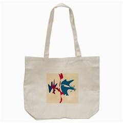 Decorative Amoeba Abstraction Tote Bag (cream) by Valentinaart