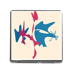 Decorative Amoeba Abstraction Memory Card Reader (square)