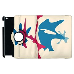 Decorative Amoeba Abstraction Apple Ipad 2 Flip 360 Case by Valentinaart